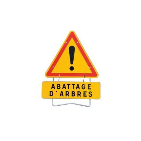 """panneau de signalisation AK14 """"ABATTAGE"""""""