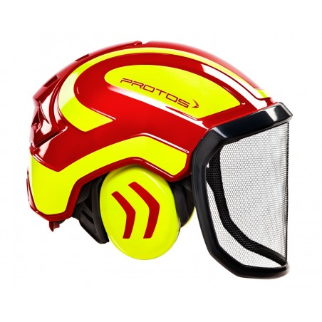 casque PROTOS FOREST PFANNER rouge/jaune