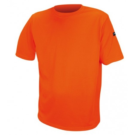 tee shirt orange polyester
