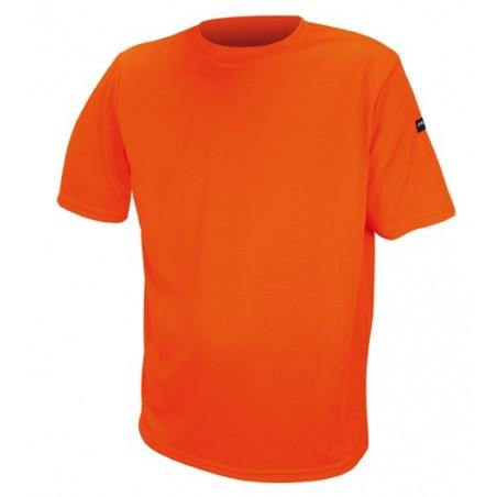 tee shirt orange polyester