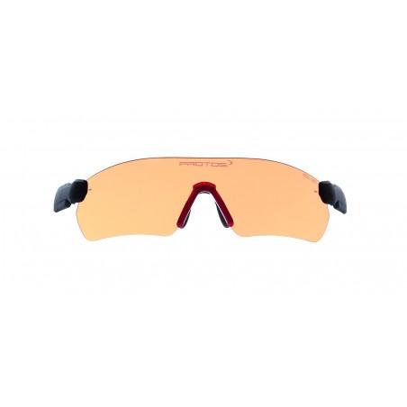 lunettes orange pour casque...