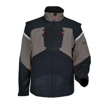 veste de travail 2 en 1 HANDY gris/noir