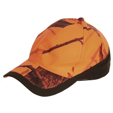 casquette baseball orange camo