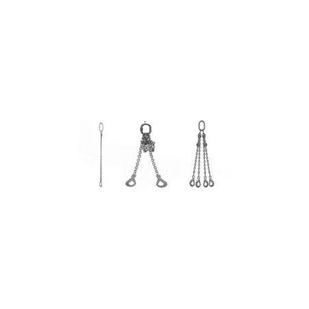 élingues chaines avec crochet à linguet simple