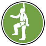 Equipement forestier de sécurité anti-chute